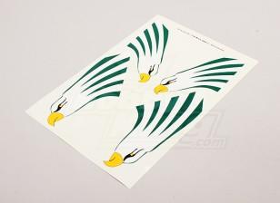 Eagle à Empennage vertical gauche et côté droit