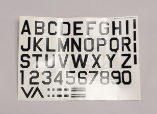 Lettres / Symboles Noir-Argent Luftwaffe style (Med) Style 1