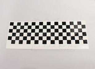 Decal Motif Feuille de Chequer Noir / Clear 590mmx180mm