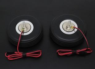 """Turnigy électrique 72mm frein magnétique du système (2.75 """") roue (2pc)"""