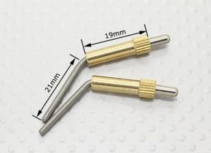 Brass Canopy Locks L40mm - 2pcs