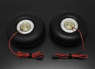 """Turnigy électrique 90mm de frein magnétique Système (3,50 """") roue (2pc)"""
