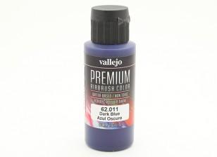 Peinture acrylique de couleur Vallejo Premium - Bleu Foncé (60ml)
