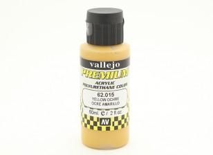 Peinture acrylique de couleur Vallejo Premium - Ocre jaune (60ml)