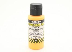 Peinture acrylique de couleur Vallejo Premium - Golden Yellow Fluo (60ml)