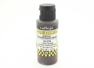 Peinture acrylique de couleur Vallejo premium - Candy Brown (60ml)