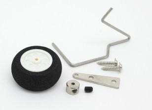 25mm Orientable Foam Tail Wheel Assembly