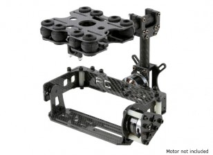 Shock Absorbing Kit 2 axes Brushless Gimbal pour Type de carte Caméras - Carbon Fiber Version