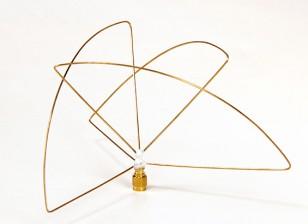 Polarisation circulaire 900MHz Antenne de l'émetteur (RP-SMA) (PCG) (Short)
