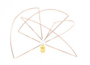 Circulaire 1.2GHz Polarized Receiver Antenna (RP-SMA) (PCG) (Short)