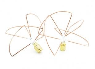 2.4GHz à polarisation circulaire antenne RP-SMA (Set) (Short)