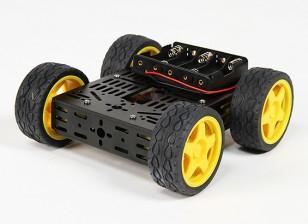 DG012-BV (version de base) Kit 4WD multi châssis avec roues en caoutchouc Four