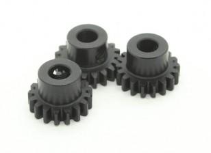 Hardened Steel Pinion Gear Set 32P Ajuster Shaft 5mm (17/18 / 19T)