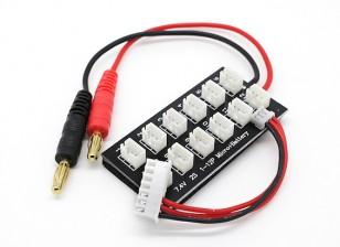 Conseil de charge parallèle pour 12 Batteries x 2S E-Flite UMX LiPoly avec balance Lead