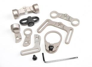 Element EX247 Multi Function kit Sling Swivel pour M4 GBB (TAN)