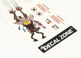 Art Nez - Le dernier loup 250 x 85mm Self Adhesive Decals