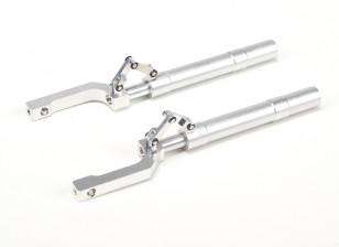 Alliage Oleo Struts Offset avec Trailing Lien 155mm ~ Pin 12.7mm (2pcs)
