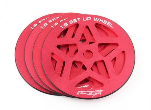 TrackStar 1/8 Scale Set-up Set Wheel (4pcs)