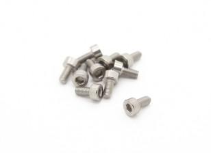 Titanium M3 x 6 Vis à tête creuse hexagonale (10pcs / bag)