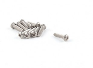 Titanium M2 x 8 Bottonhead Hex Screw (10pcs / bag)