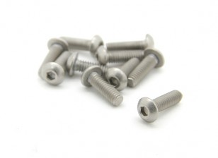 Titanium M2.5 x 8mm Dôme tête hexagonale Vis (10pcs / bag)