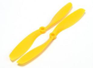 Turnigy slowfly Hélice 8x4.5 jaune (CW / CCW) (2pcs)