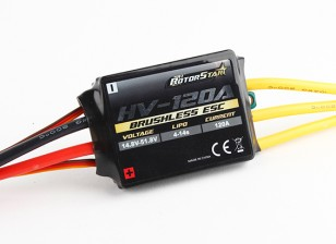RotorStar 120A HV (4 ~ 14S) Brushless Speed ​​Controller (OPTO)