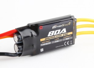 RotorStar 80A (2 ~ 6S) SBEC Brushless Speed ​​Controller