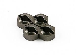 Titanium Moyeux de roue (4pcs) - Basher 1/16 Mini Nitro Circus MT