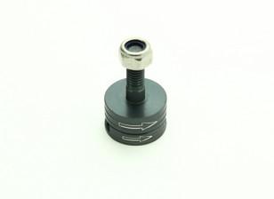 CNC en aluminium M6 Quick Release auto-serrage Prop Adapter Set - Titanium (Clockwise)