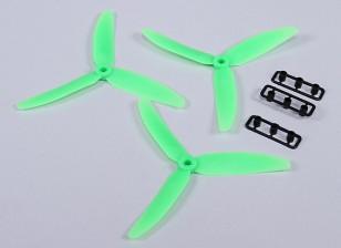 HobbyKing ™ Hélice 5x3 Green (CCW) (3pcs)