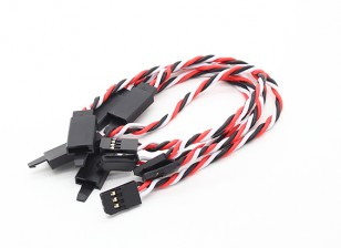 Twisted 15cm Servo Extention Lead (Futaba) avec crochet 22AWG (5pcs / bag)