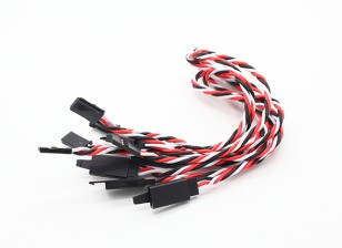 Twisted 30cm Servo Extention Lead (Futaba) avec crochet 22AWG (5pcs / bag)