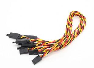 Twisted 30cm Servo Extention Lead (JR) avec crochet 22AWG (5pcs / bag)