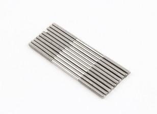 M2x45mm en acier inoxydable Rods Push (LH & RH Threaded) (10pcs)