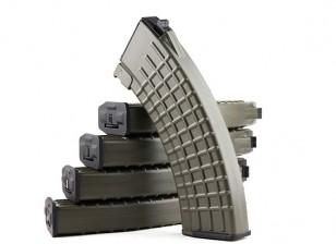 King Arms 600rounds Waffle Motif magazines pour Marui AK AEG (Olive Drab, 5pcs / box)