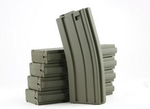 King Arms 120rounds magazines pour les séries Marui M4 / M16 AEG (Olive Drab, 5pcs / box)