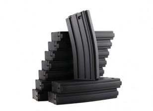King Arms 120rounds magazines pour les séries Marui M4 / M16 AEG (noir, 10pcs / box)