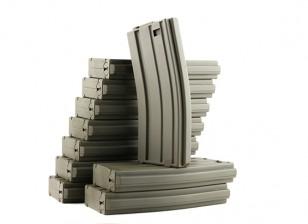 King Arms 120rounds magazines pour les séries Marui M4 / M16 AEG (Olive Drab, 10pcs / box)
