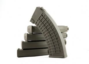 King Arms 110rounds magazines de type polonais pour Marui AK AEG (Olive Drab, 5pcs / box)