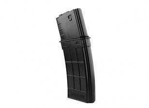 King Arms 130rounds magazines de style TangoDown pour M4 (Noir)