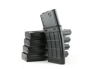 King Arms 130rounds TangoDown magazines de style pour M4 (Black, 5pcs / box)