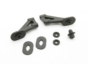 Fibre Reinforced montage avant Body & Wing Support - BZ-444 Pro 1/10 4WD Buggy Racing