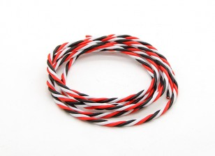 Twisted 22AWG Servo Fil Rouge / Noir / Blanc (1mtr)