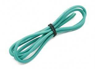 Turnigy haute qualité 14AWG silicone fil 1m (Vert)