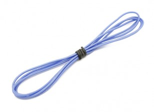 Turnigy haute qualité 24AWG silicone Fil 1m (Bleu)