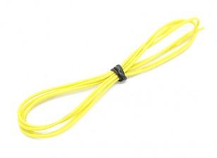 Turnigy haute qualité 24AWG silicone fil 1m (Jaune)