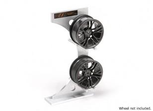 NZO aluminium Rim rack - Argent