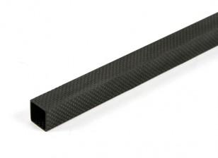 Tube en fibre de carbone carré 20 x 20 x 800mm