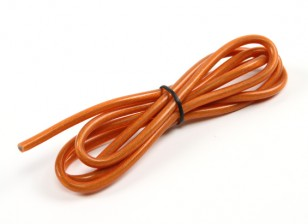 Turnigy Pure-silicone Fil 12AWG 1m (Translucent Orange)